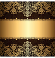 gold patter border vector image