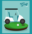 golf club car ball field vector image vector image