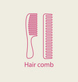 hair comb icon device for combing hair thin line vector image vector image