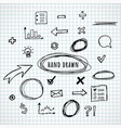 hand drawn elements sketch vector image