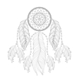 Hand drawn zentangle Dream catcher with mehendi vector image