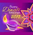 happy diwali festival lights 2017 poster vector image