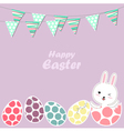 Happy Easter bunny and eggs vector image vector image