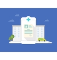 Hospital mobile application vector image vector image