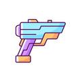 laser weapon rgb color icon vector image