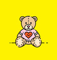 love bear icon vector image vector image
