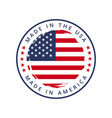 made in usa round label vector image