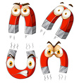 Magnet with facial expressions vector image vector image