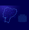 map ecuador from the contours network blue vector image vector image