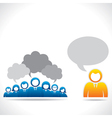 meeting or discussion between group of people vector image vector image