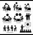 mentor guidance coach for business executive vector image vector image