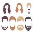 mustache and beard hairstyles cartoon icons in vector image vector image