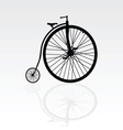 old bike vector image