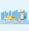 online delivery service tracking online tracker vector image