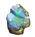 Piece of crystal opal or moonstone isolated vector image vector image