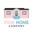 pink home logo vector image