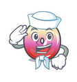 sailor jelly ring candy character cartoon vector image vector image