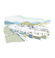 salzburg austria europe sketch city line art vector image vector image
