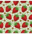 Seamless Pattern with Strawberry and Flowers vector image vector image
