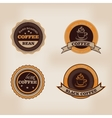 Set of retro coffee house shop badges labels