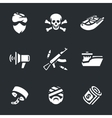 set sea pirates vector image vector image