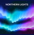starry northern lights background vector image vector image