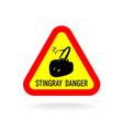 stingray warning symbol triangle sign vector image