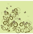 Stylish floral green background vector image vector image