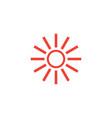 sun hot icon graphic design template vector image vector image
