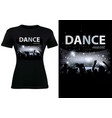 t-shirt design with disco dance theme vector image vector image