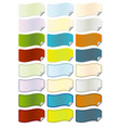 tag with folded corner vector image vector image