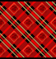 tartan plaid seamless pattern red and black color vector image