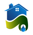 water sources home concept design symbol graphic vector image