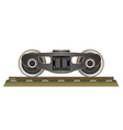 Wheels and bogie vector image vector image