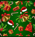 winter holidays realistic seamless pattern vector image