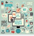 Social Media Sign Logo and Symbol set vector image
