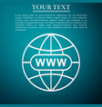 go to web icon isolated on blue background vector image