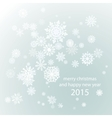 Elegant Christmas background with snowflakes place vector image