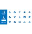 15 employee icons vector image vector image