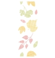 Abstract textile texture fall leaves vertical vector image vector image