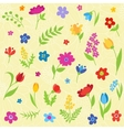 Beautiful seamless pattern with spring flowers vector image vector image