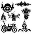 biker labels and emblems vector image