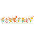 birthday party in the style of children drawings vector image