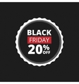 Black Friday Label vector image vector image