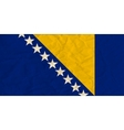 Bosnia and Herzegovina paper flag vector image