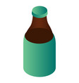 bottle of kvass icon isometric style vector image