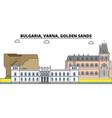 bulgaria varna golden sands city skyline vector image vector image