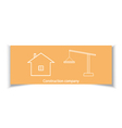 Business card for construction company vector image vector image