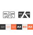card cut simple black line icon vector image