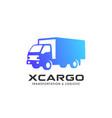 cargo delivery services logo design truck icon vector image vector image